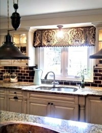 Traditional Style Kitchen Curtains