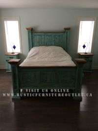 Rustic turquoise bedroom set http://www ...