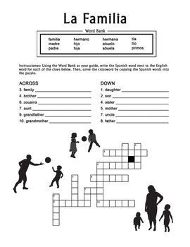16 best images about Spanish Crossword Puzzles on