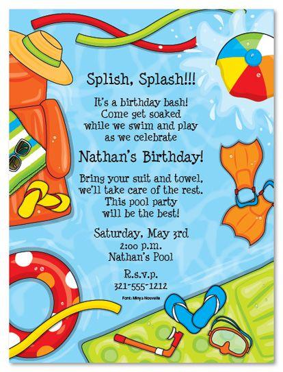 7th birthday invitation wording