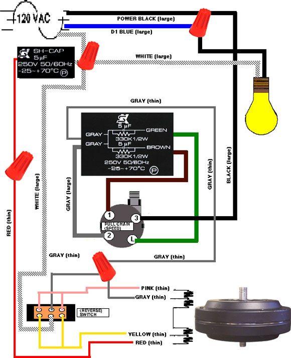hunter fan speed switch wiring diagram