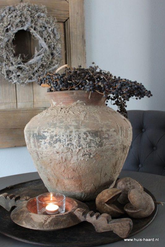 Oude terracotta waterkruik AFHALEN  Potten kruiken