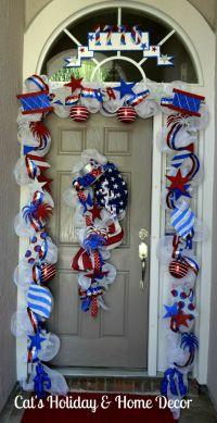 Deco Mesh Garland; 4th of July Door   Patriotic; Red ...