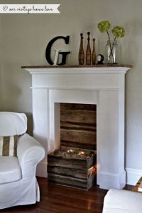 17 Best ideas about Faux Fireplace Mantels on Pinterest ...