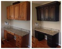 Dark Chocolate Milk Painted Kitchen Cabinets | Milk ...