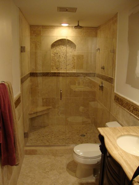 Convert Tub Into Stand Alone Shower Recessed Arched Shelf