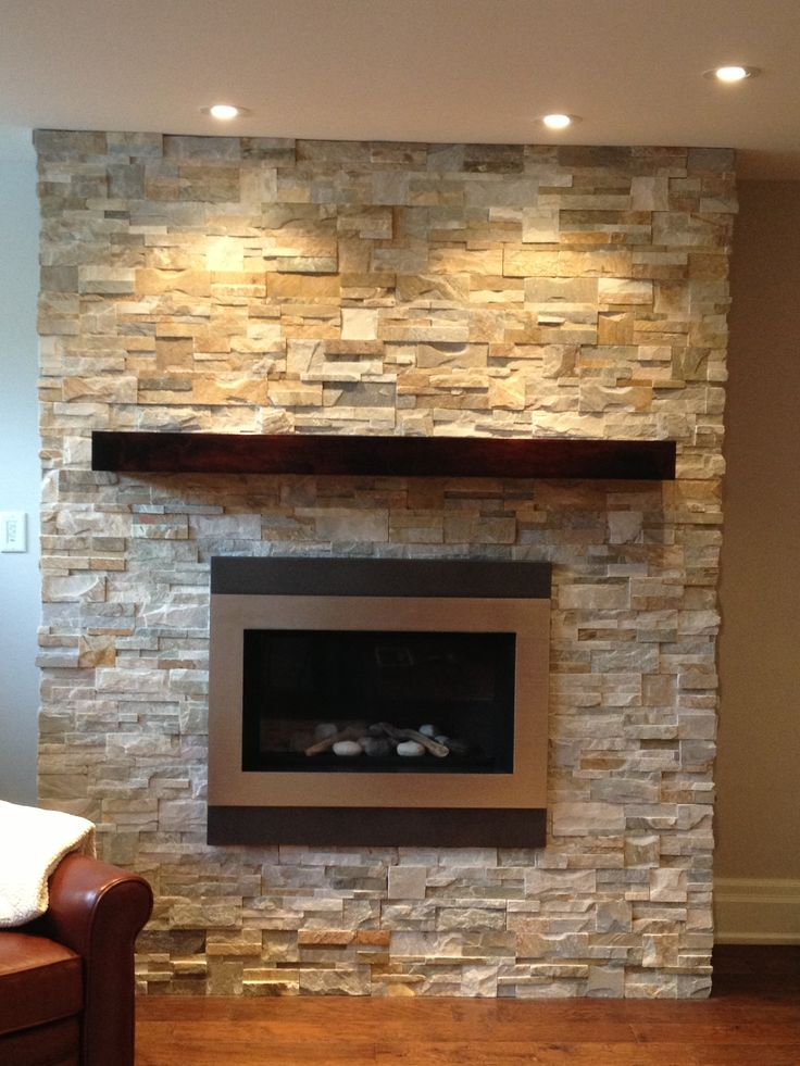 Wood Mantel And Natural Ledge Stone On Fireplace Stone Fireplaces Pinterest Mantels Wood