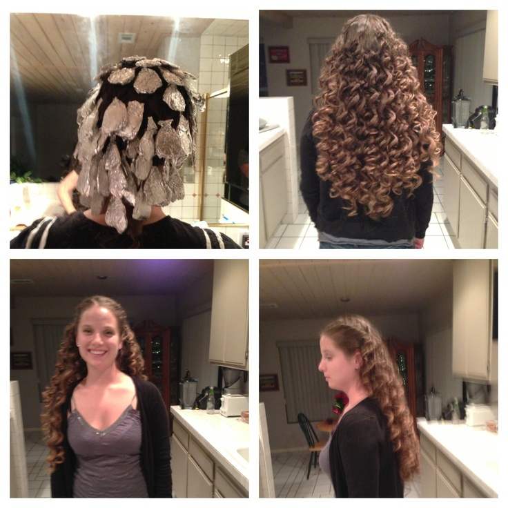 Foil Curls Yes They Work Section Hair Curl Around