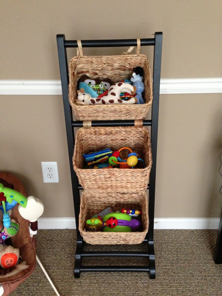 Toy organizer for living room