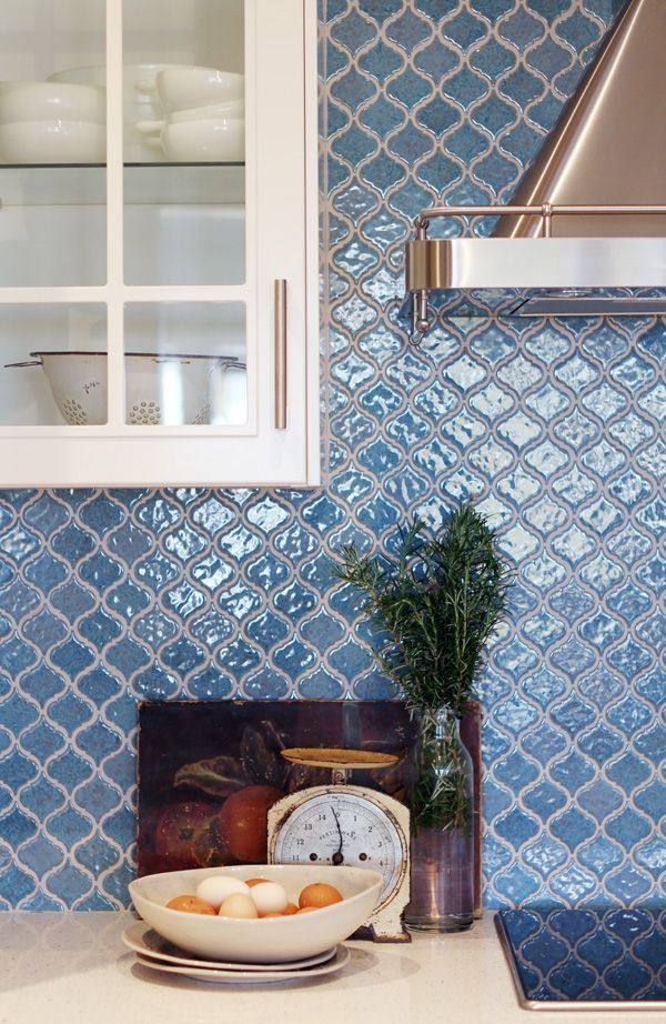 The IKEA Moroccan tile backsplash  Kitchen Backsplash