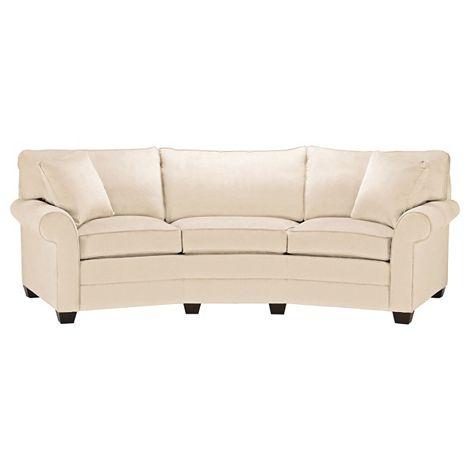 bennett conversation sofa  Ethan Allen 110 w x 37 h x