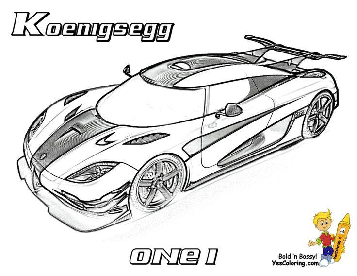 Full Force Race Car Coloring! Koenigsegg ONE:1 http://www