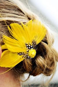 yellow wedding hair accessories 18 best images about hair ...