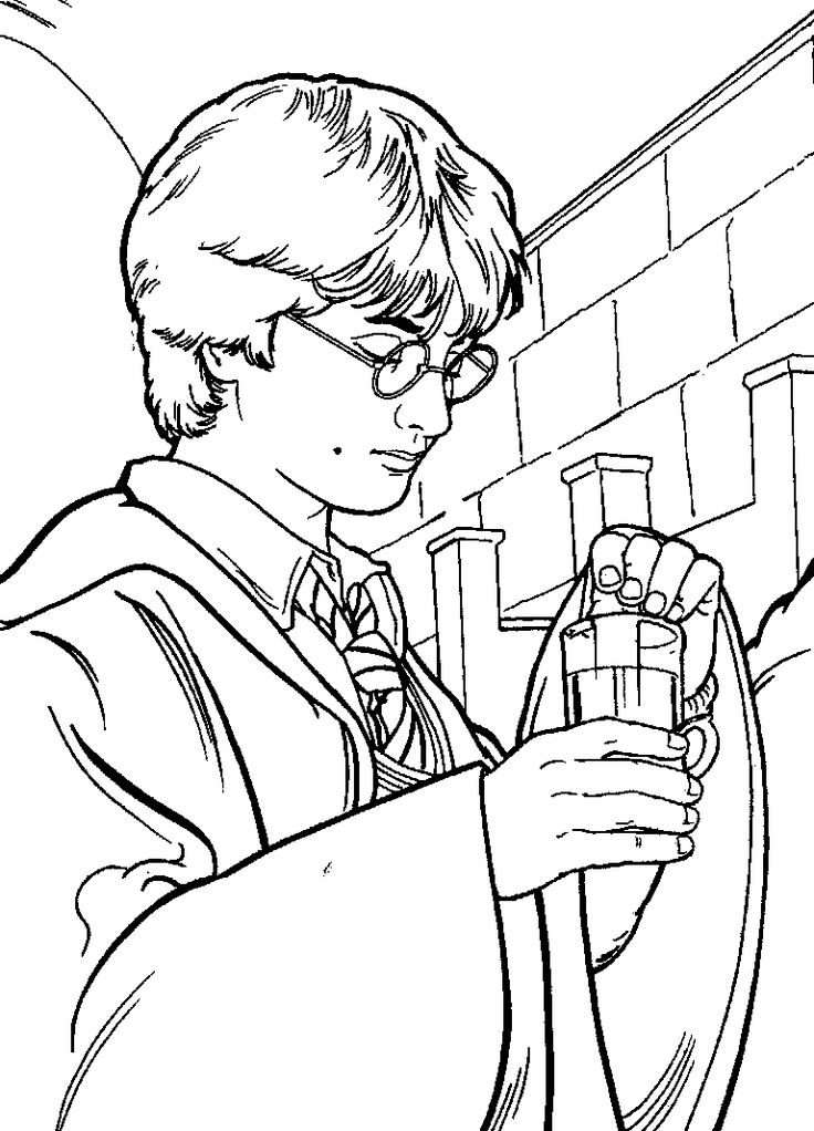 Harry Potter Easy Coloring Pages, Free Printable Harry