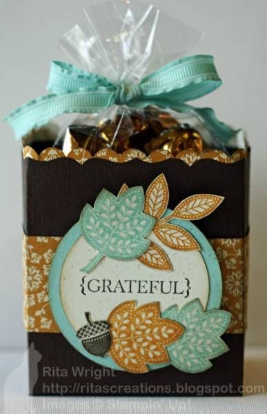 treat bags with Day of Gratitude stamp set Tools