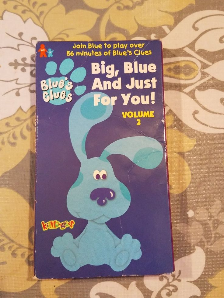 Cute Notepad Wallpaper Blue S Clues Big Blue And Just For You Volume 2 1999 Vhs