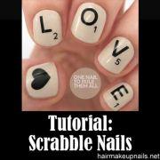 scrabble nails tutorial beauty fitness