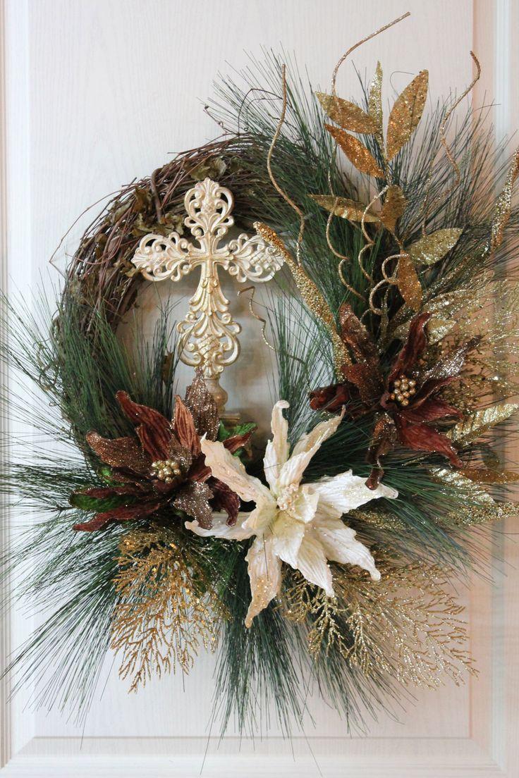 Elegant Christmas Wreath  Holidays Christmas Garlands  Swags  Wreaths  Pinterest