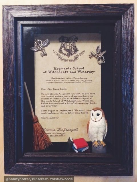 DIY HARRY POTTER GIFT Shadow Box Hogwarts Letter