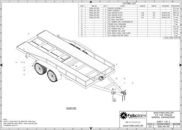 2.5 tonne Car Trailer