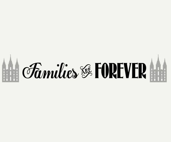Families are Forever LDS Primary Theme 2014 Vinyl Wall