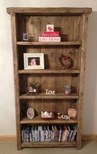 BESPOKE HANDMADE RUSTIC FARMHOUSE STYLE WOODEN BOOKCASE ...