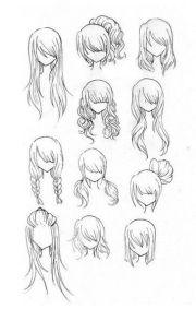 ideas manga hairstyles