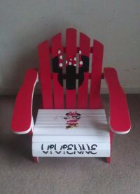 Children's Handpainted Minnie Mouse Adirondack | Outdoors ...