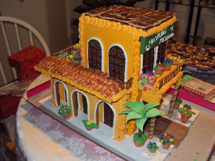 mexican casa gingerbread house
