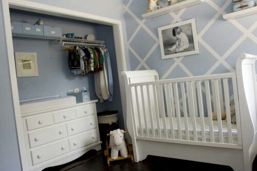 Small nursery in a closet S