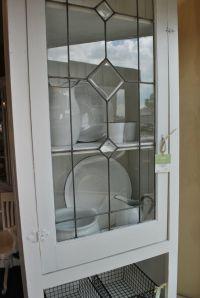 White leaded glass cabinet. | SoBo Style Window Pane ...