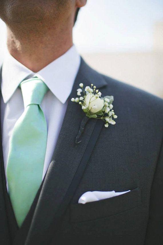 Mint Tie Men Or Boys Skinny Slim Or Modern Widths