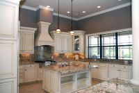 Off-white kitchen cabinets with antique finish | Home ...