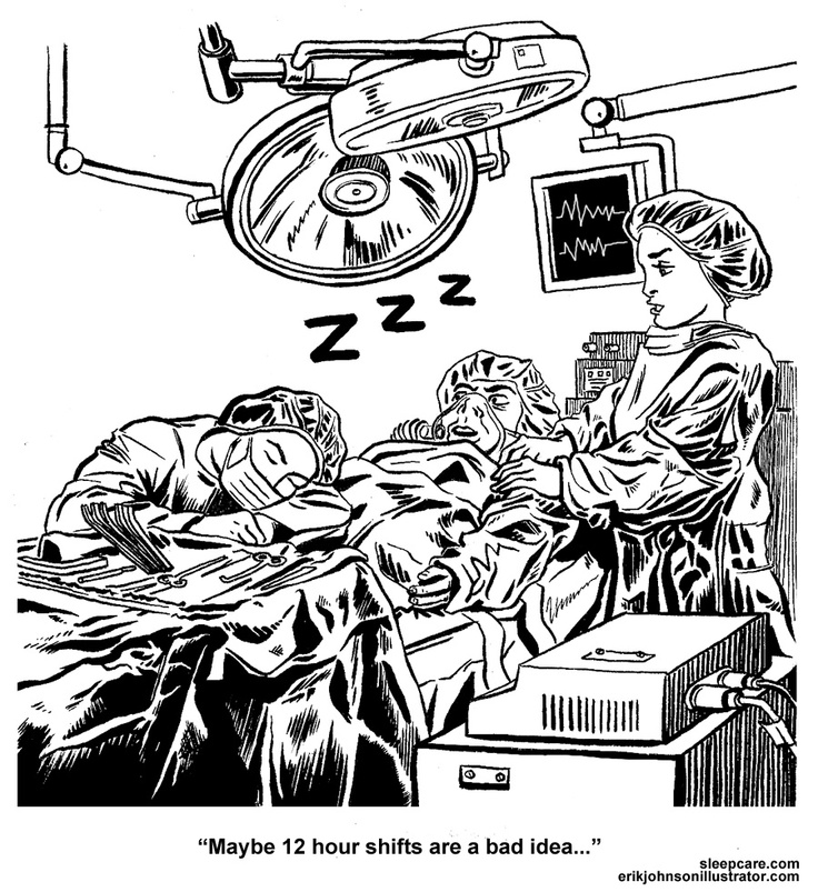 Operating Room. Illustration for sleepcare.com article