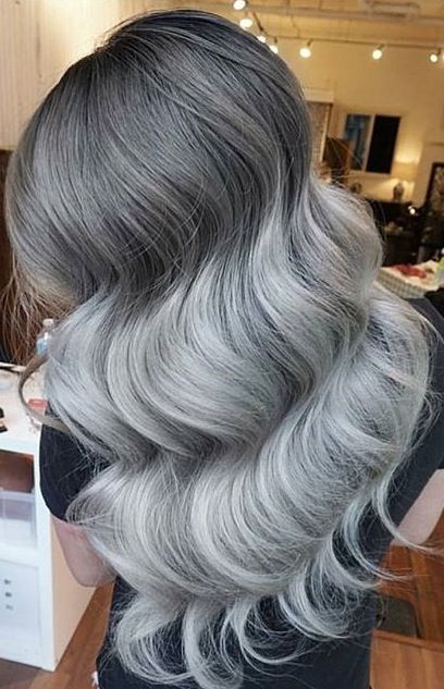 Chrome Silver Hair And Huge Waves By Eva Lam HOT Beauty