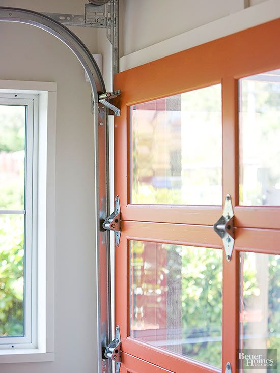 Cool Garage Conversions to Copy Immediately  Orange color Garage doors and Natural light