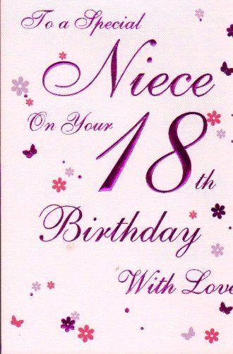 Special Niece 18th Birthday Birthday Card Birthday Card