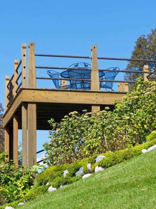 25 Best Ideas About Hillside Deck On Pinterest Sloped Backyard