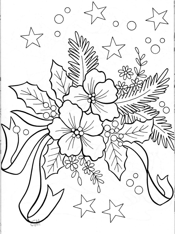 274 best images about Xmas Coloring Pages on Pinterest
