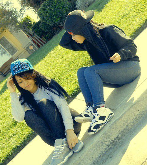 Mixed Girls with Snapbacks Cute Mixed Girls With Swag