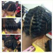 underhand braid style natural