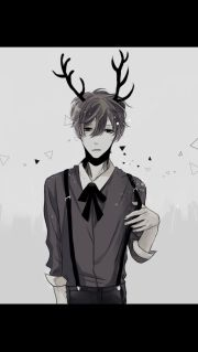 boys anime and antlers
