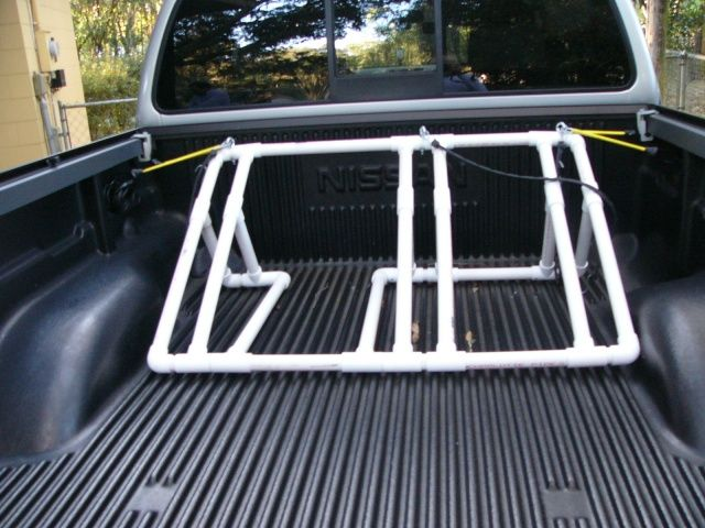 great idea. back of truck bike rack.