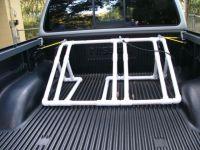 great idea. back of truck bike rack.