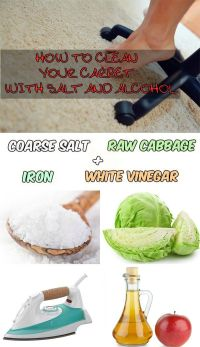 How to clean your carpet with salt and alcohol ...