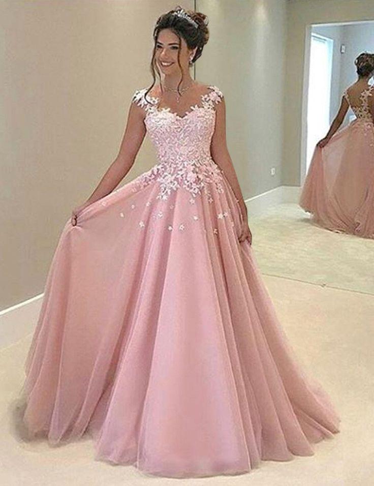 Best 25 Pink Prom Dresses ideas on Pinterest  Pink dresses Graduation dresses long and Xv dresses