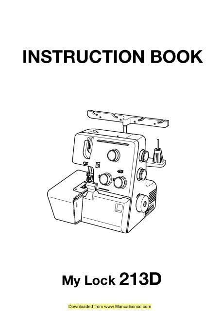 Janome 213D Sewing Machine Instruction Manual. Janome 213D
