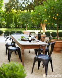 outdoor dining area in California | farmhouse table ...