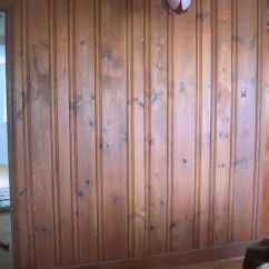 Refinishing Oak Kitchen Cabinets Table And Chairs With Wheels Diy My Guy: Hall Wall | Staining Old Paneling ...