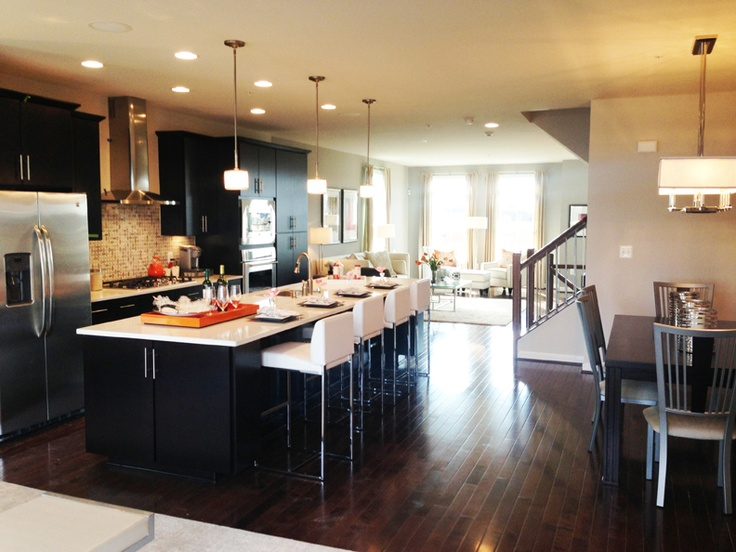 NVHomes Luxury Townhomes Level 2 Open Concept
